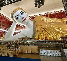 huge SMILING RECLINING BUDDHA by travel4pictures