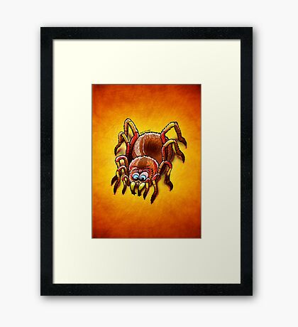 Tarantula Sinking its Fangs into Fresh Flesh Framed Print