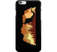 Godzilla versus King Kong cityscape iPhone Case/Skin