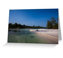 koh rong beach, combodia - 10 Greeting Card