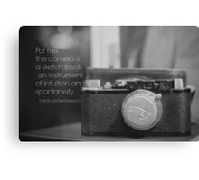 Camera Henri Cartier-Bresson Canvas Print