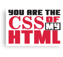 You are the CSS of my HTML Canvas Print