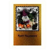 Happy Halloween Card Art Print