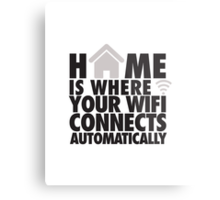 Home is where your WIFI connects automatically Metal Print