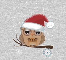 Cute Owl with Santa hat Tee Baby Tee