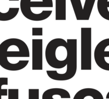 Deceive, Inveigle, Obfuscate Sticker