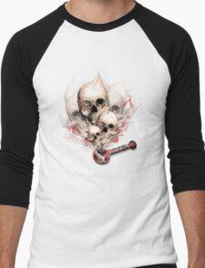 Faded Youth Smoke skulls. Men's Baseball ¾ T-Shirt