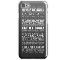 Alan Partridge Quotes (White Text) iPhone Case/Skin