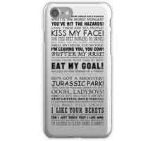 Alan Partridge Quotes (Black Text) iPhone Case/Skin