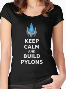 Keep Calm and build PYLONS Women's Fitted Scoop T-Shirt