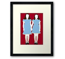 The Grady Girls - The Shining Framed Print