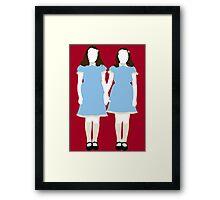 The Grady Girls - The Shining Framed Print