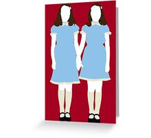 The Grady Girls - The Shining Greeting Card
