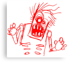 doodle zombie of the undead Canvas Print