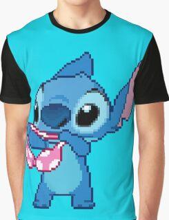 Lilo & Stitch - Stitch Bra Pixel Graphic T-Shirt