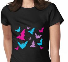 Batty Bats! Womens Fitted T-Shirt
