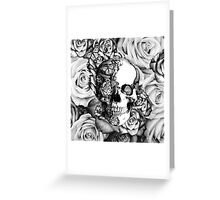 Ladybug Rose skull.  Greeting Card