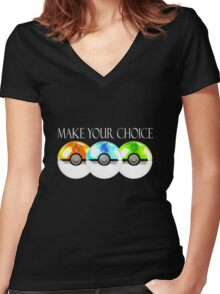 Pokemon - Make Your Choice Women's Fitted V-Neck T-Shirt