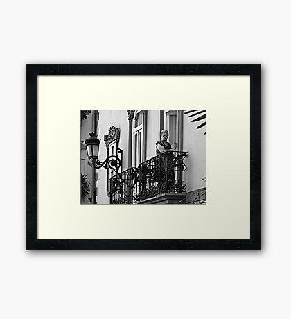 The Balcony Framed Print