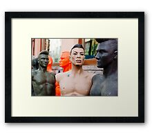 Guys hanging out,  Framed Print