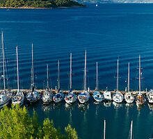 Greek harbor, by Jip v K