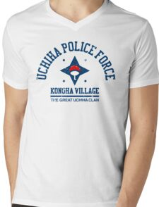 Uchiha police force Mens V-Neck T-Shirt