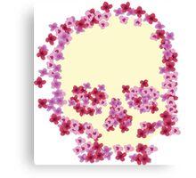 Pink Floral Skull Canvas Print