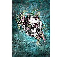Grunge butterfly smoke skull Photographic Print
