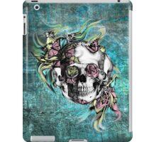 Grunge butterfly smoke skull iPad Case/Skin