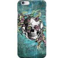Grunge butterfly smoke skull iPhone Case/Skin