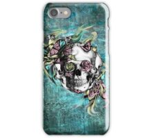 Grunge butterfly smoke skull iPhone Case/Skin