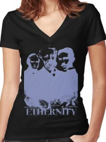 Ethernity in blue Women's Fitted V-Neck T-Shirt