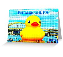 Pittsburgh, PA Duck Greeting Card
