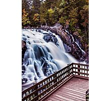 Different perspective of waterfall Photographic Print