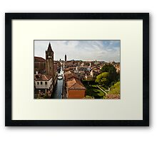 Red Roofs of Europe - Venetian Canals, Palaces, Gardens and Courtyards Framed Print