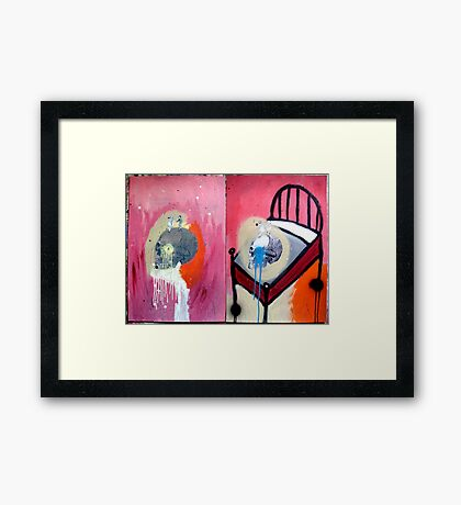DEATH IS ALL AROUND Framed Print
