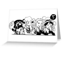 One Piece Tea Time Greeting Card