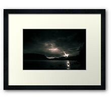 Monochrome Sunbeam Framed Print