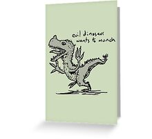Evil Dinosaur Wants to Munch Greeting Card