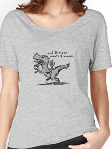 Evil Dinosaur Wants to Munch Women's Relaxed Fit T-Shirt