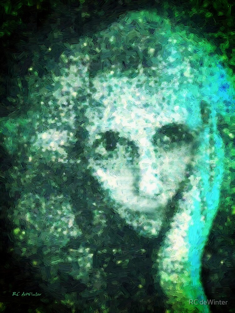 Fugue in Cyan and Black by RC deWinter