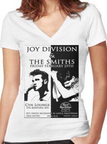 Smiths x joy division Women's Fitted V-Neck T-Shirt