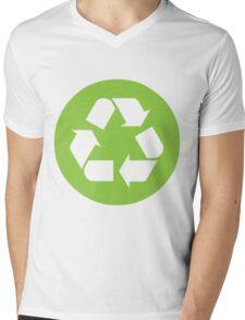 Recycling Mens V-Neck T-Shirt