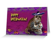 Happy Halloween Raccoon Greeting Card
