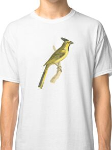 Crested Bunting Bird Illustration by William Swainson Classic T-Shirt