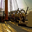 HMS Warrior Ships wheel. by thermosoflask