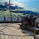 Hms Warrior Stern Cannon by thermosoflask