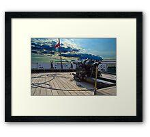 Hms Warrior Stern Cannon Framed Print