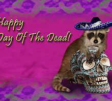 Happy Day of the Dead Raccoon by jkartlife