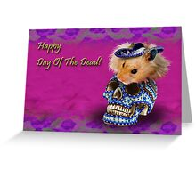 Happy Day of the Dead Hamster Greeting Card